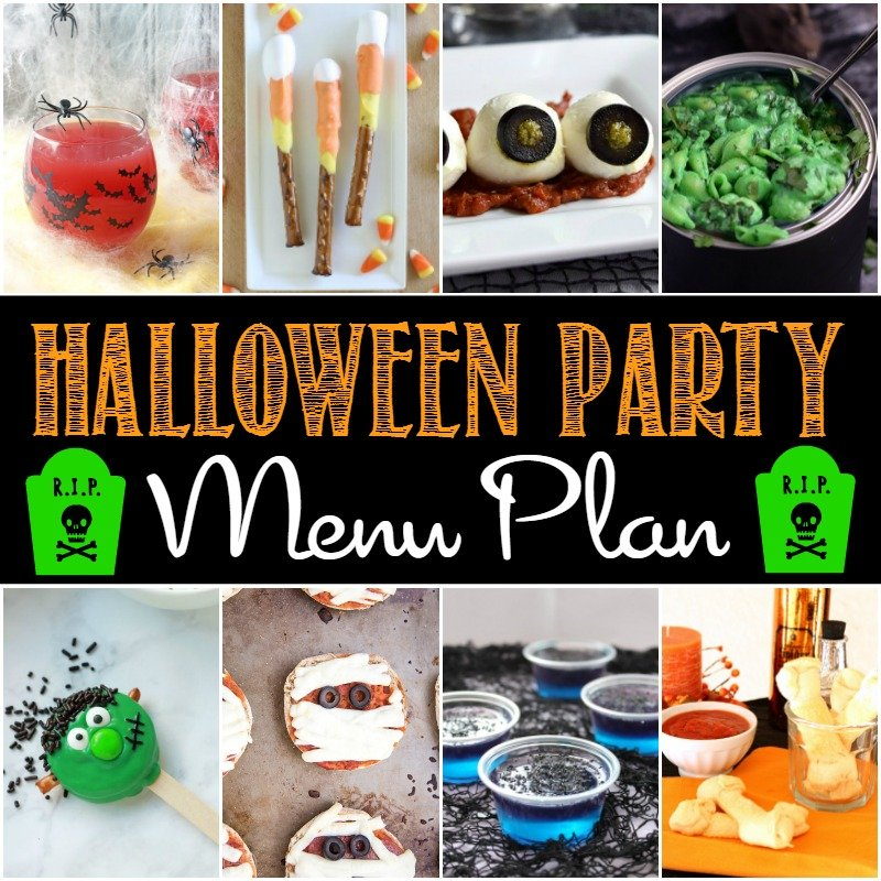 This Halloween party menu plan will make planning a Halloween party a breeze.