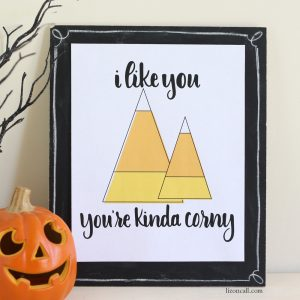 Hand lettered candy corny print available at lizoncall.com shop