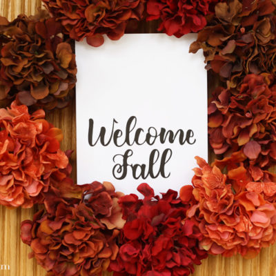 Welcome Fall Free Printable