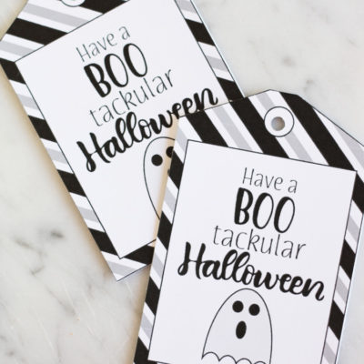 Boo'tackular Halloween Gift Tags