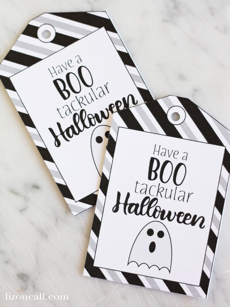 Free printable halloween gift tags to wish your friends and family a boo'tackular Halloween!