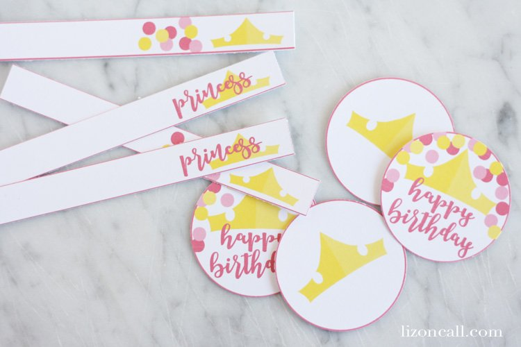 These free princess birthday party printables are the perfect finishing touch for your little princesses big day.