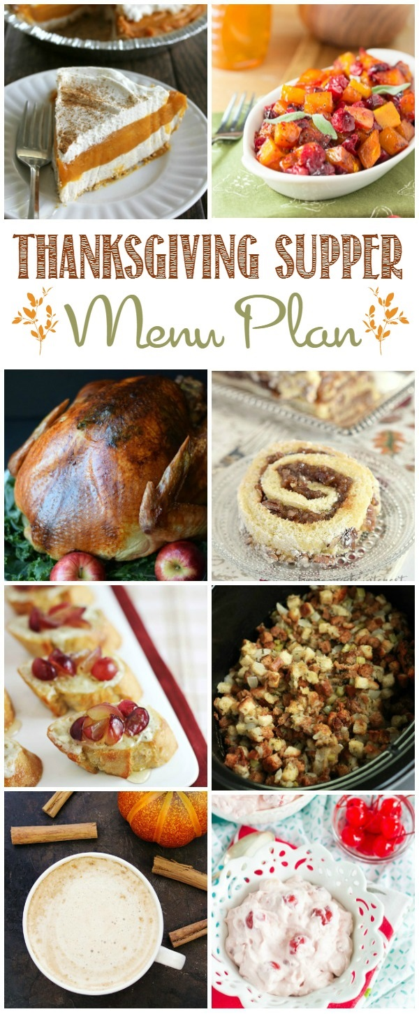 Delicious ideas to get you ready for your Thanksgiving Dinner.  Check out all the delicious ideas in this Thanksgiving Dinner Menu Plan.