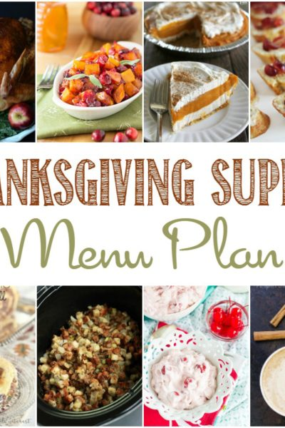 Thanksgiving Dinner Menu Plan