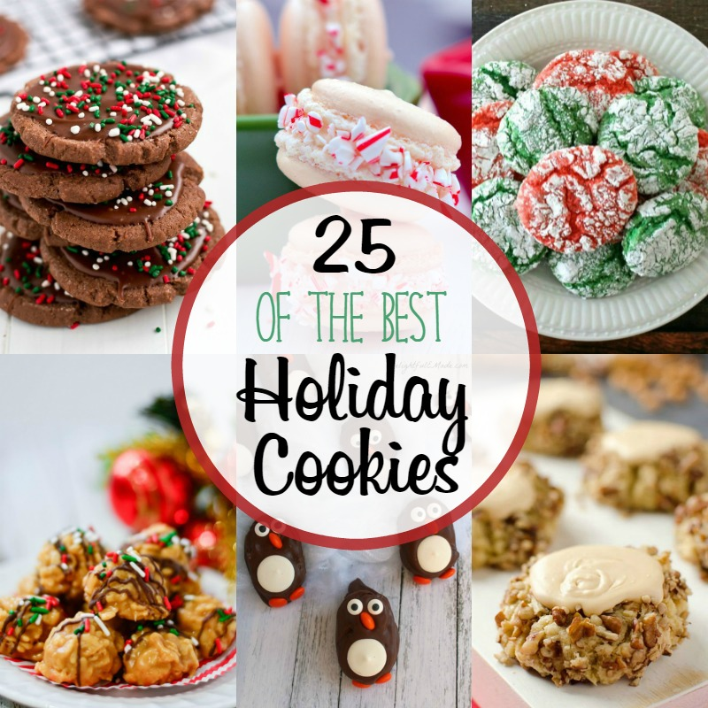 I love holiday traditions like making cookies for Santa.  I've got 25 Christmas cookies to help get you in the holiday spirit.
