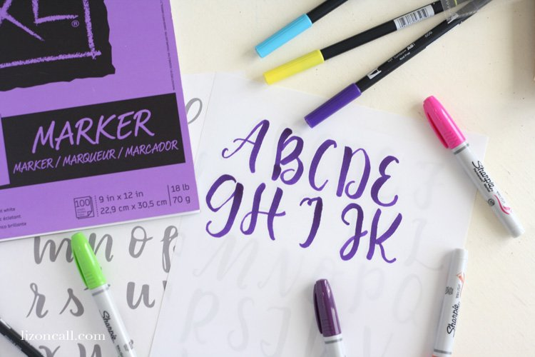 Free printable brush lettering practice sheets liz on call