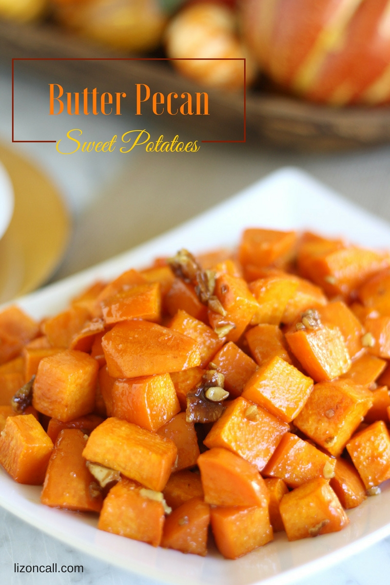 These roasted butter pecan sweet potatoes will be a perfect side dish for your Thanksgiving dinner.