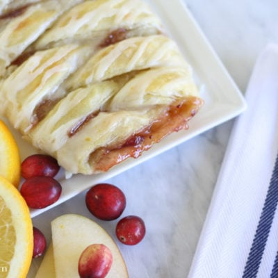 Cranberry Apple Pie Braid