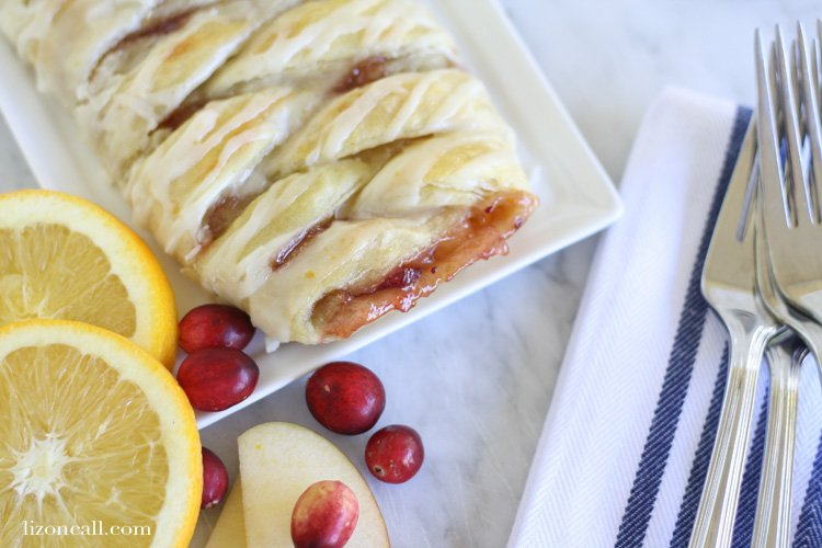This cranberry apple pie braid is a quick and easy dessert for your next holiday get together.