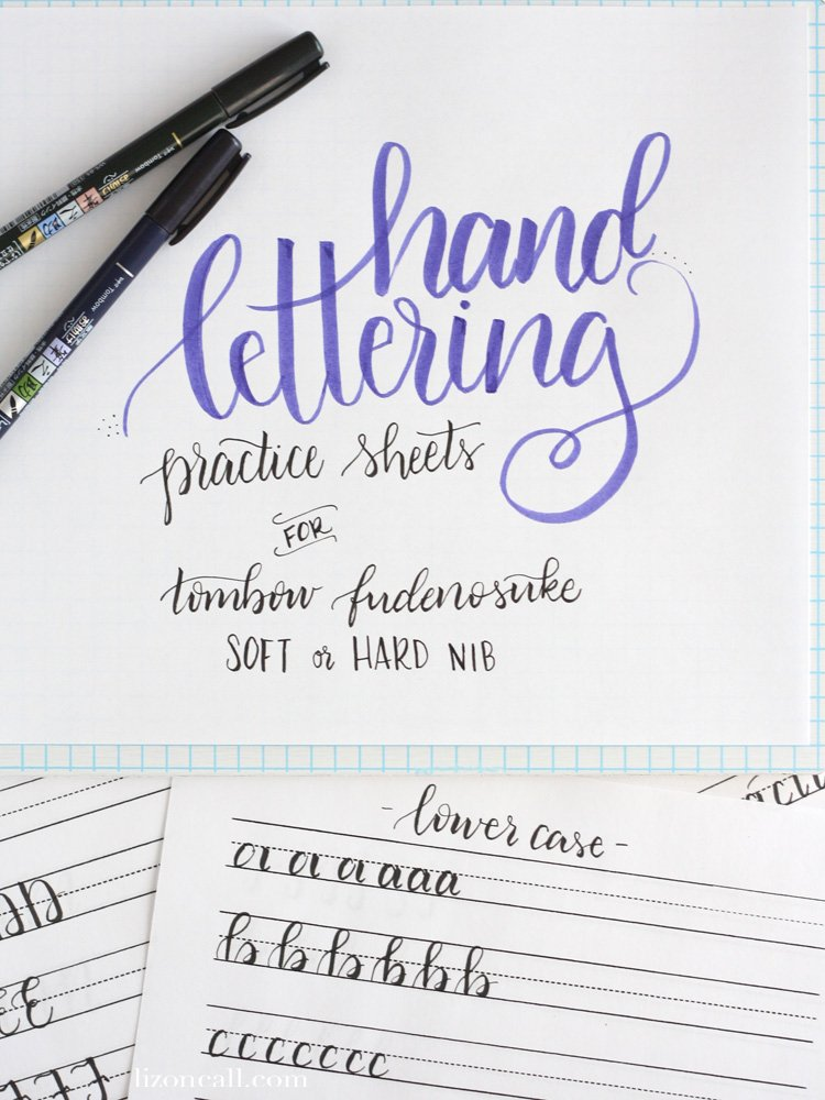 These Free Printable Hand Lettering Practice Sheets Are Designed Help You The Strokes Of Each
