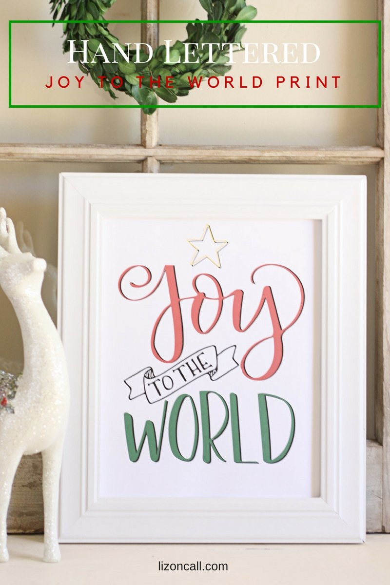 Bring the spirit of Christmas into your home this season with this hand lettered free Christmas printable. Joy to the World Free printable with hand lettering practice sheet.