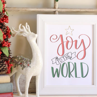 Joy to the World Printable and Practice Sheet