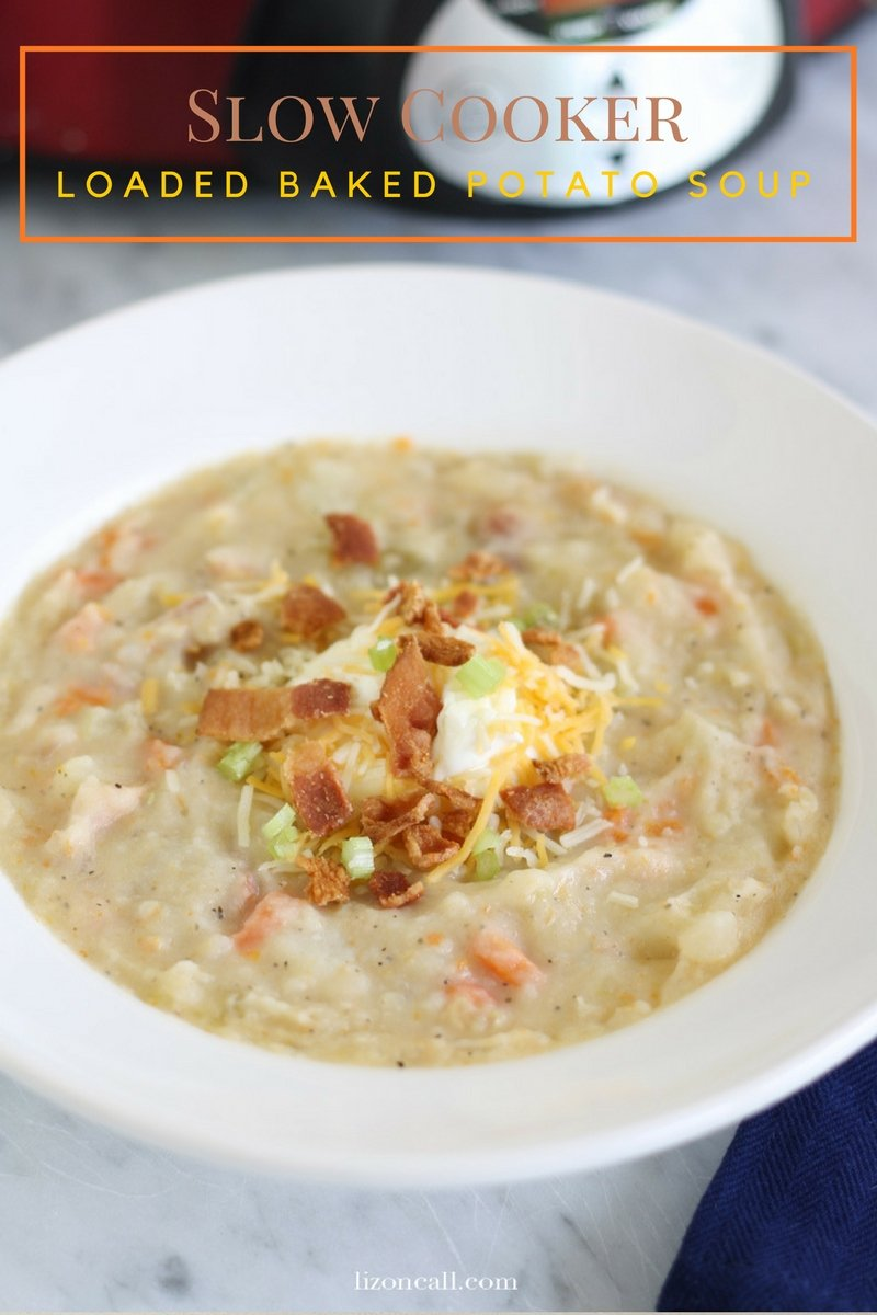 Making a warm and delicious loaded baked potato soup was never easier with this slow cooker recipe.
