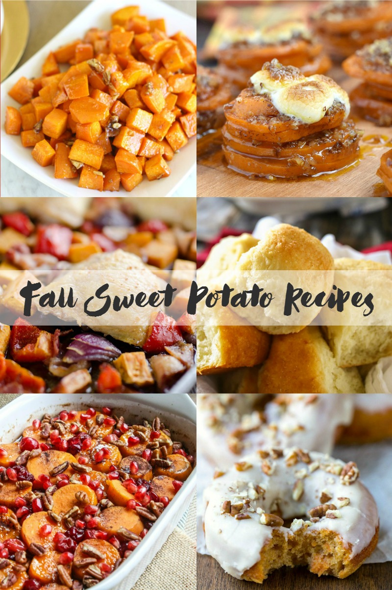 Fall sweet potatoes recipes to get you in the mood for all things fall.