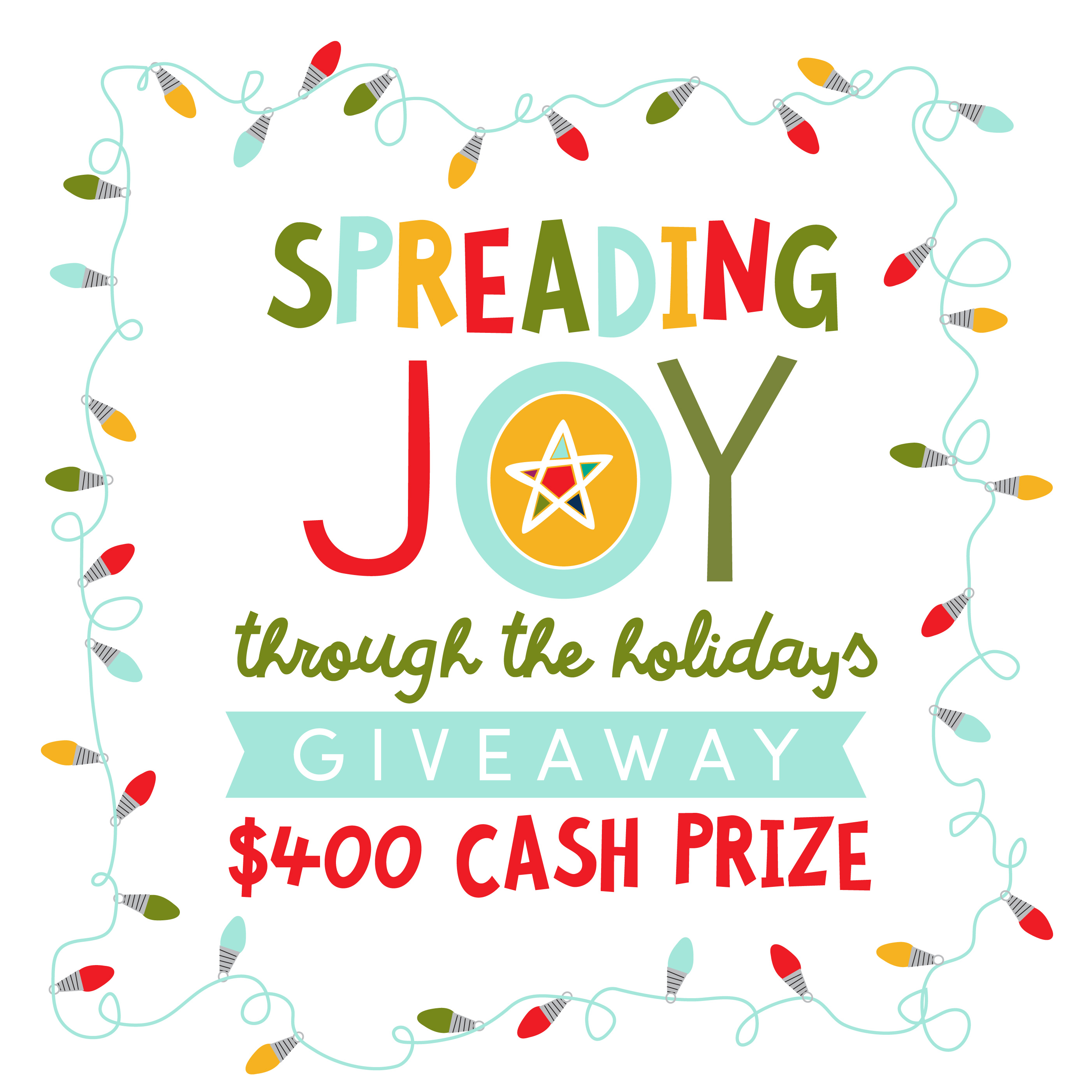 Remember to spread some joy this holiday season. To get things started, we want to spread some joy to you with a cash giveaway.