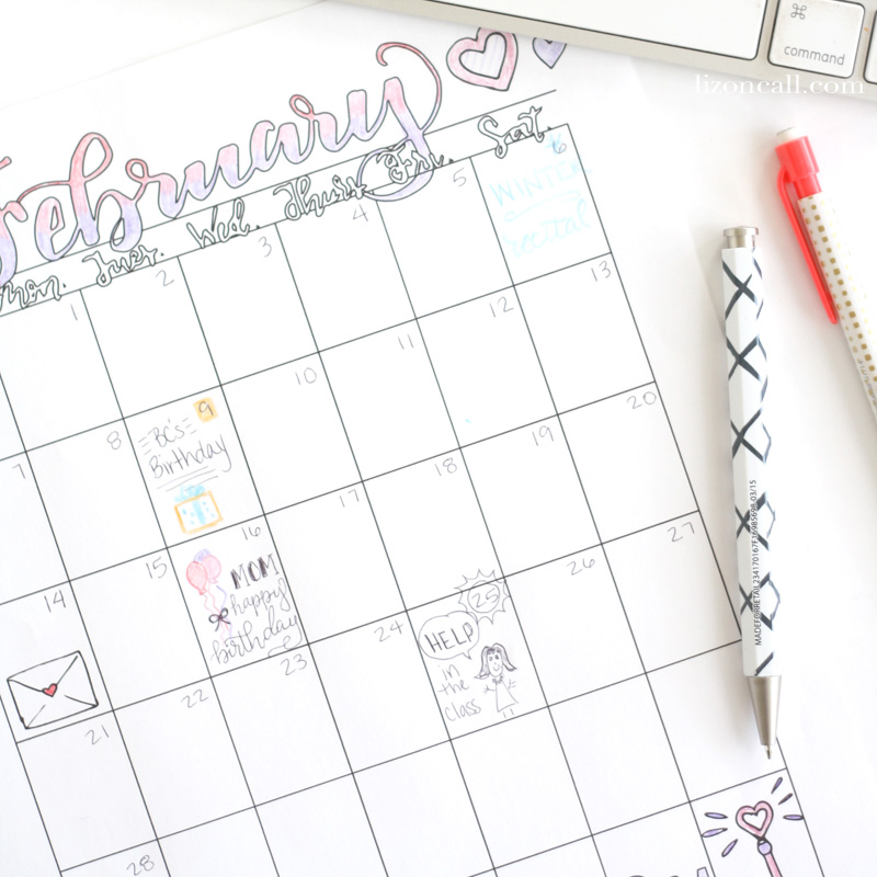 Yearly Calendar coloring pages for the 12 months of the year. Year round coloring fun