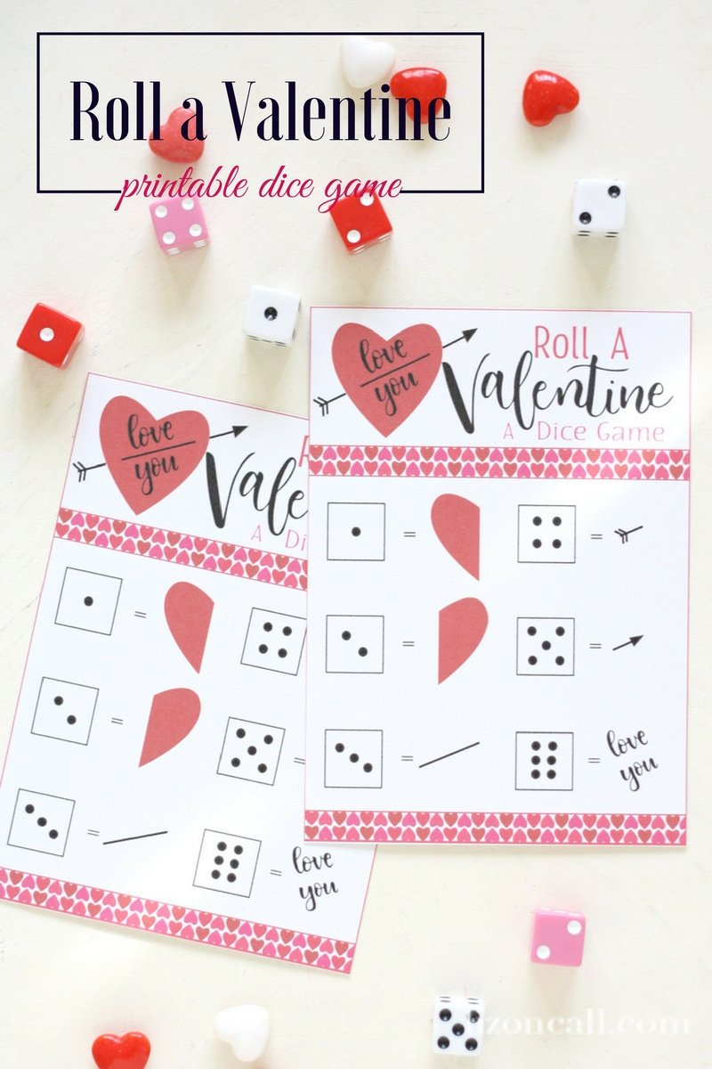 Print Out This Roll A Valentine Dice Game For A Fun Afternoon Activity With  The Kids