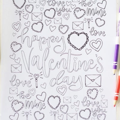Valentine's Day Coloring Page