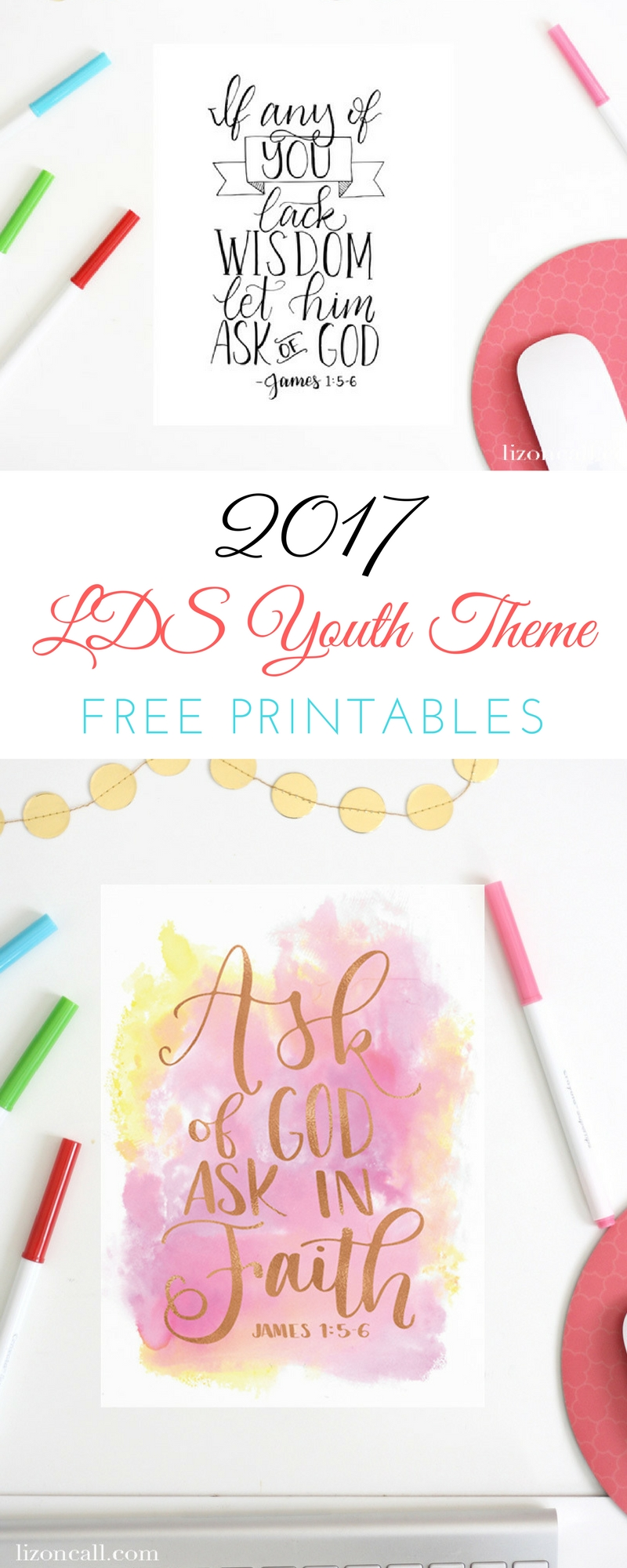 These hand lettered 2017 LDS youth theme printables are beautiful and will be a great reminder to the youth this year.