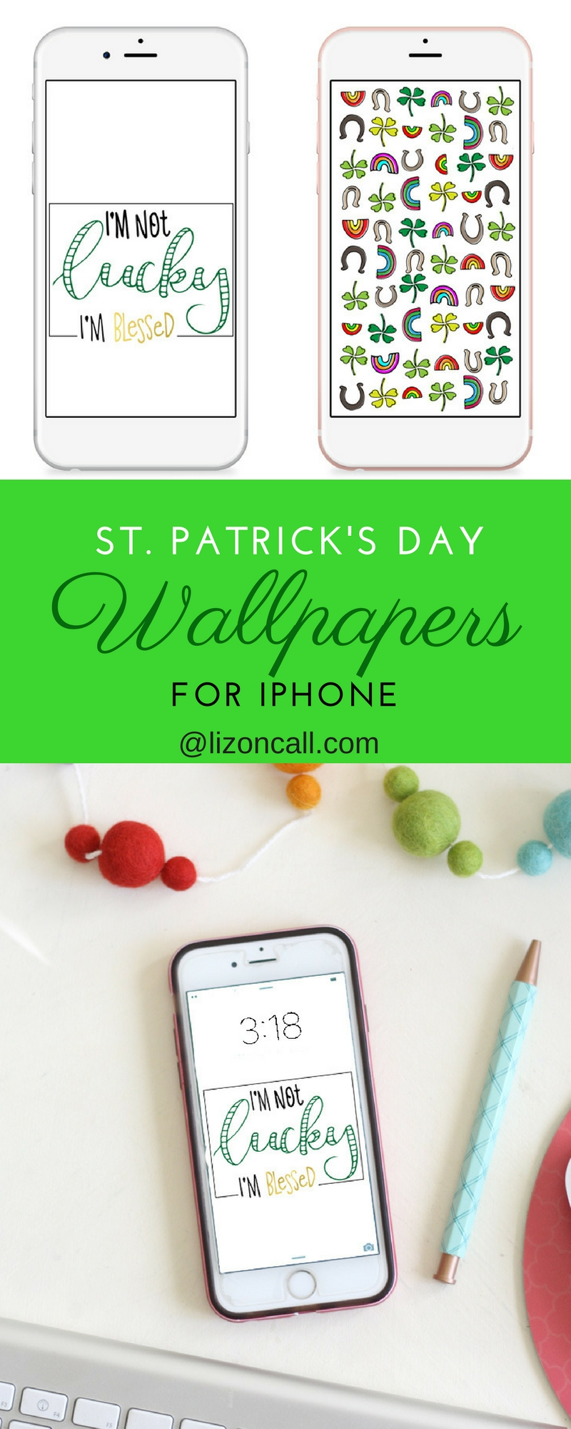 Make sure you have your green on this St. Patrick's Day with one of these free iPhone wallpaper designs.