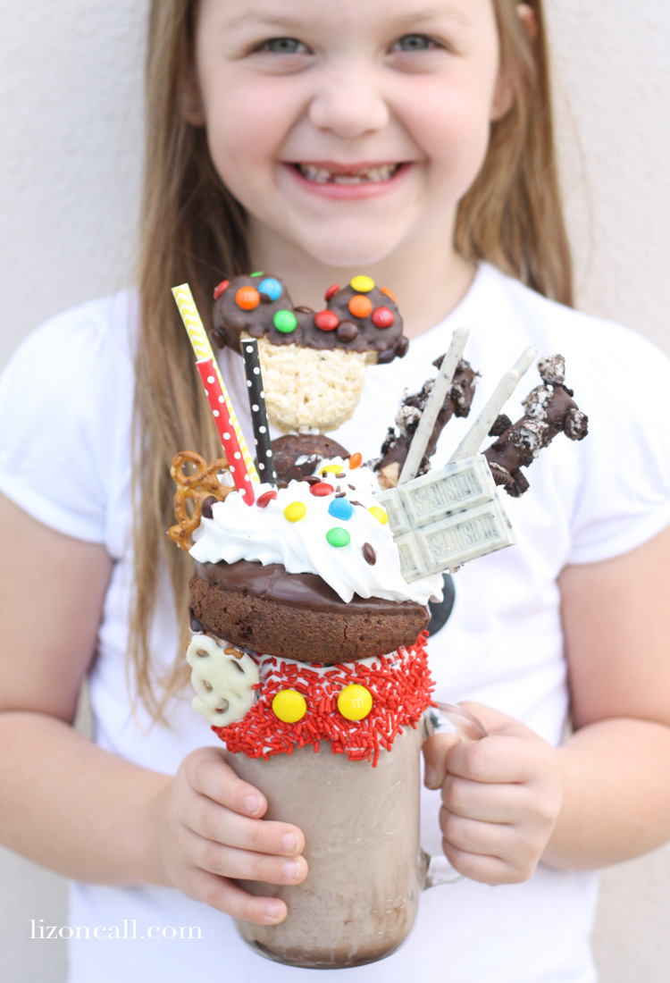Wow any Disney fan with an over the top Disney inspired Mickey Mouse freak shake.
