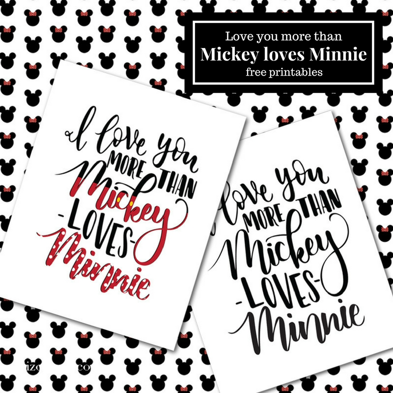 Tell your Disney loving sweetheart just how much you love them with this I love you more than Mickey loves Minnie printable.