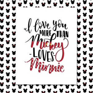 Mickey Loves Minnie Printable