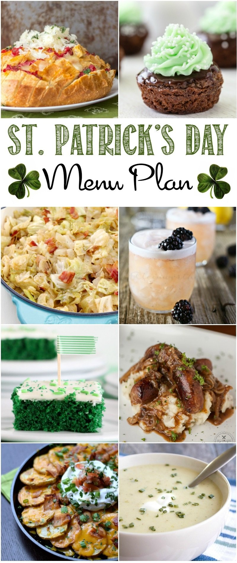 Create a fun meal for family and friends with this St. Patrick's Day menu plan.