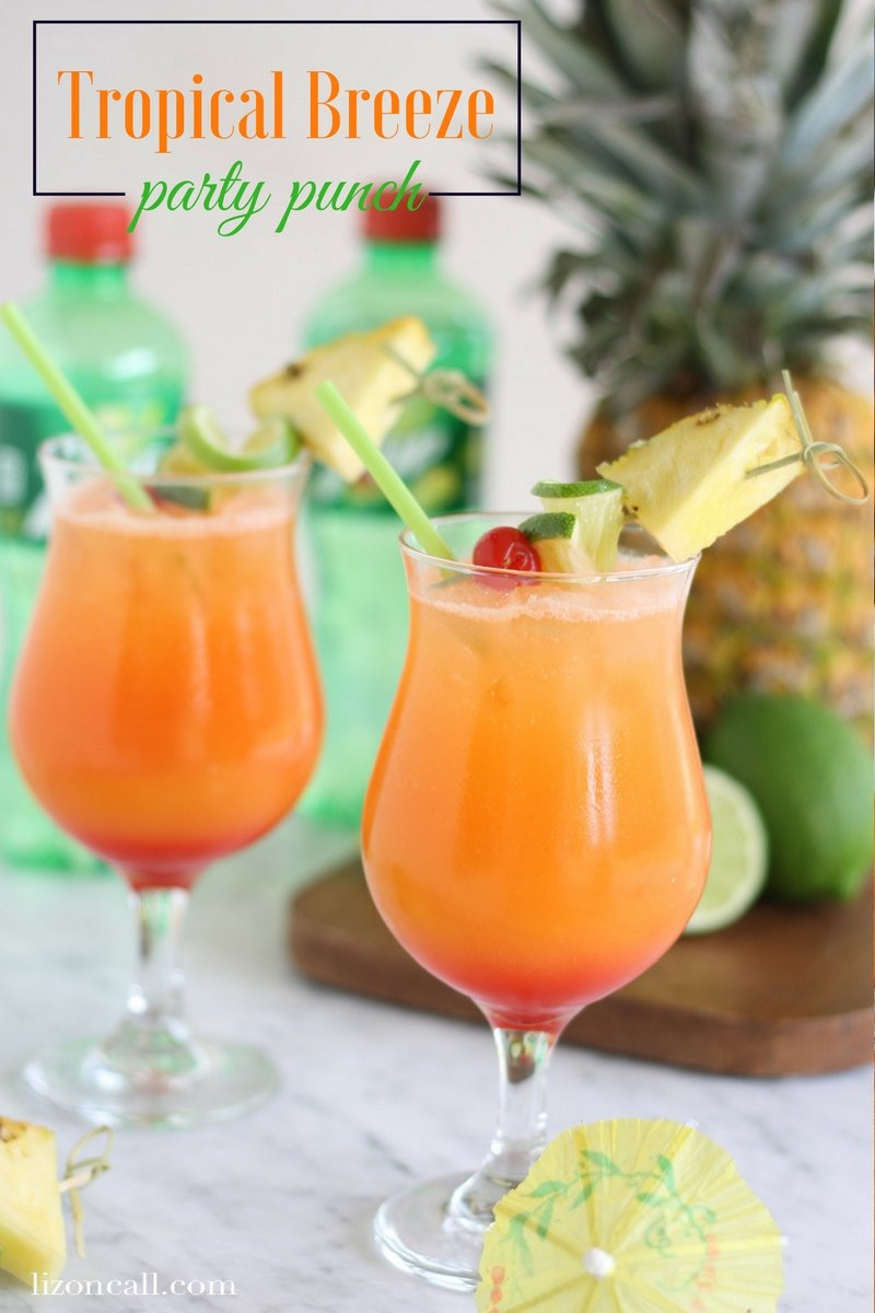 titled image (and shown): Tropical Breeze Party Punch