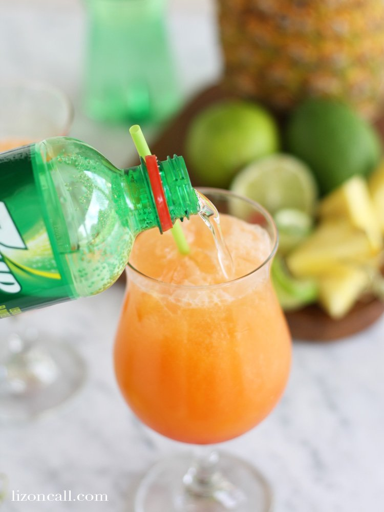 No need to leave the house to feel like you are on an exotic get away. Mix up this tropical breeze party punch for an instant island party feel.