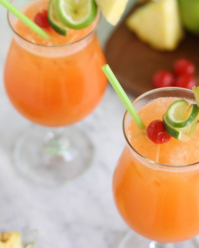 Tropical Breeze Party Punch for The Bachelor With 7UP
