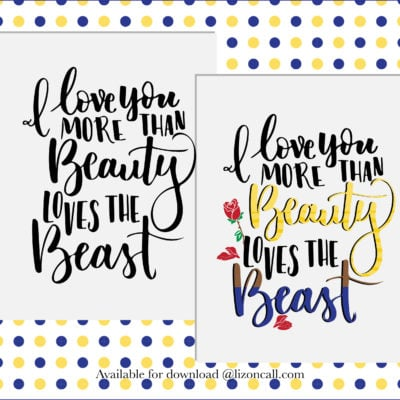 Beauty and the Beast Printable