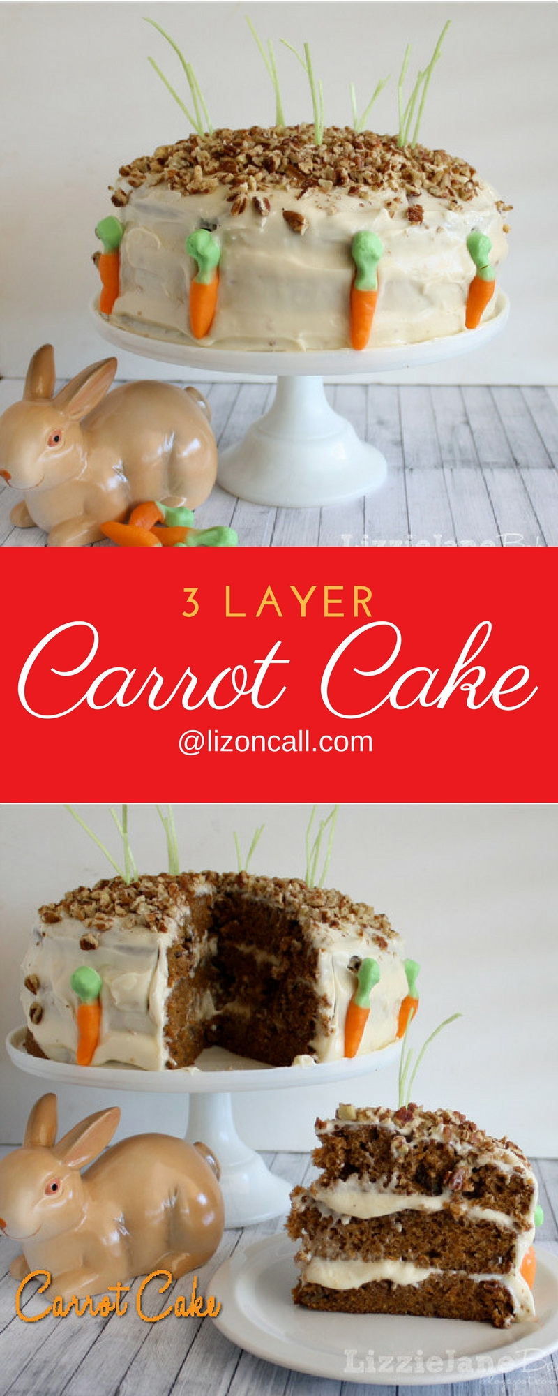 This made from scratch carrot cake recipe is 3 layers of deliciousness that is perfect for any Easter celebration.
