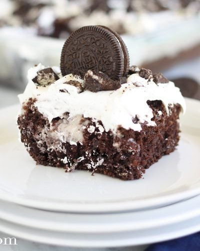 Cookies & Cream Poke Cake Recipe