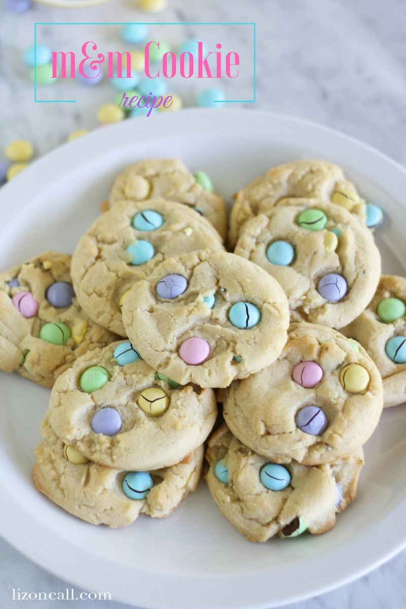 Skip the chocolate chips and make this colorful m&m cookie recipe for your next family get together. Change the color of m&m's to match any occasion
