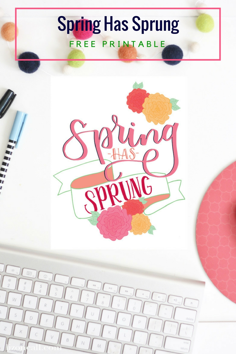 Spring Hand Lettering Practice Sheet and Printable - Liz on Call