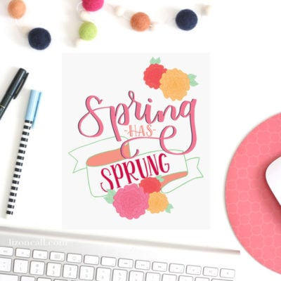 Spring Hand Lettering Practice Sheet and Printable
