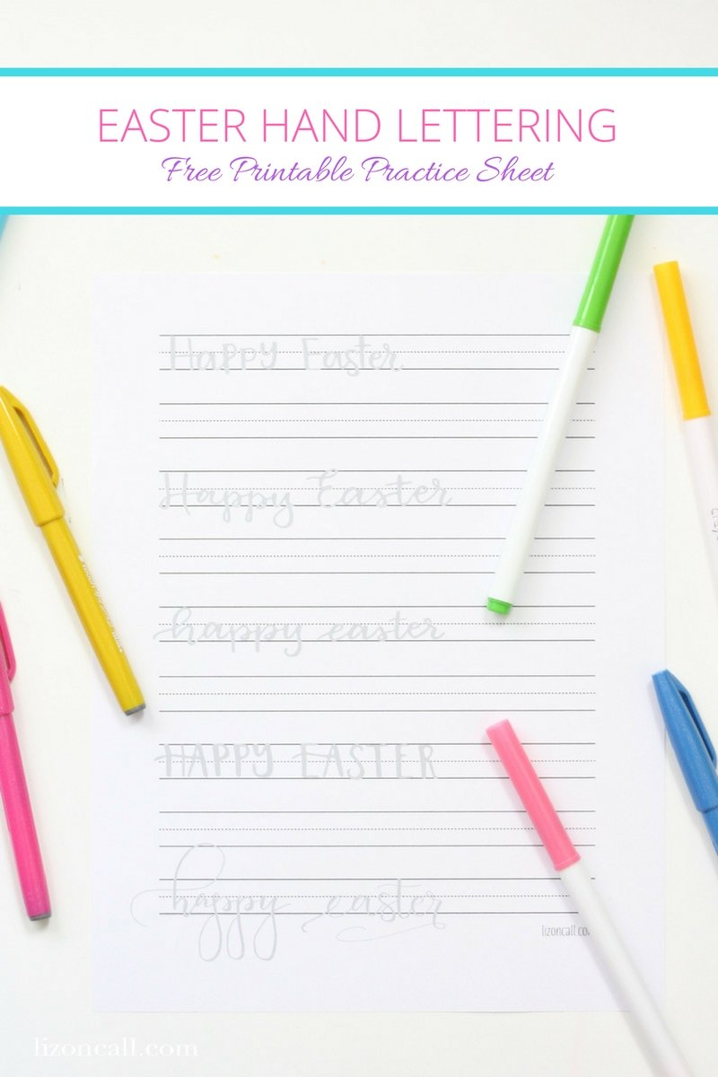 Get ready to send a hand lettered Easter greeting card to your family and friends this year with this Easter hand lettering practice sheet. 5 different styles all on one page.