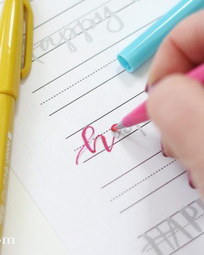 Easter Hand Lettering Practice Sheet