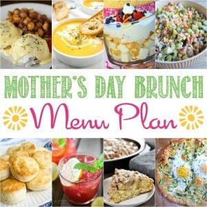Mother's Day Brunch Menu Plan