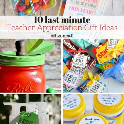 Last Minute Teacher Appreciation Gift Ideas