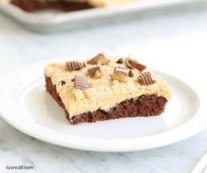 Chocolate Peanut Butter Sheet Cake