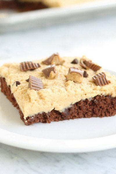Chocolate Peanut Butter Sheet Cake