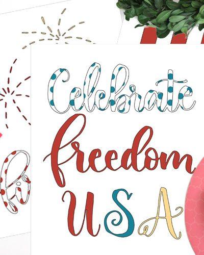 Free Patriotic Coloring Book