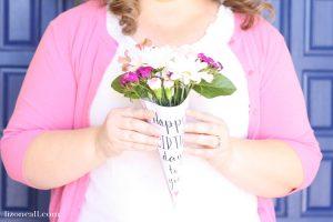 Free Printable Happy Birthday Flower Wrapper