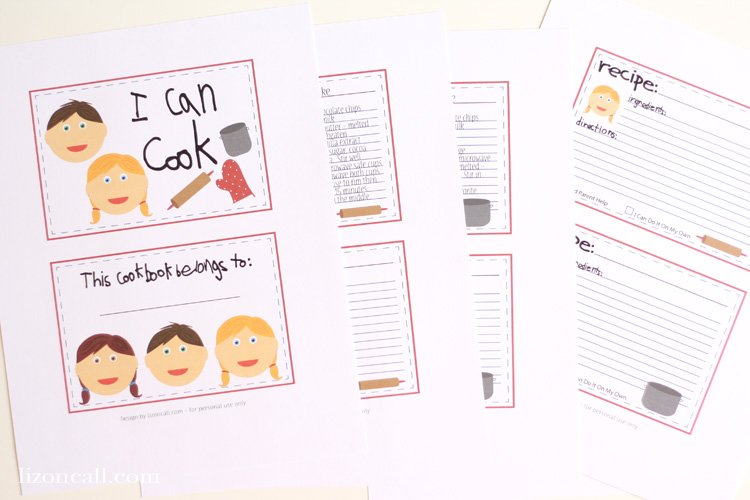 Get Cooking With The Kids In Kitchen This Free Printable Cookbook