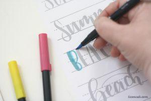 Summer Brush Lettering Practice Sheet