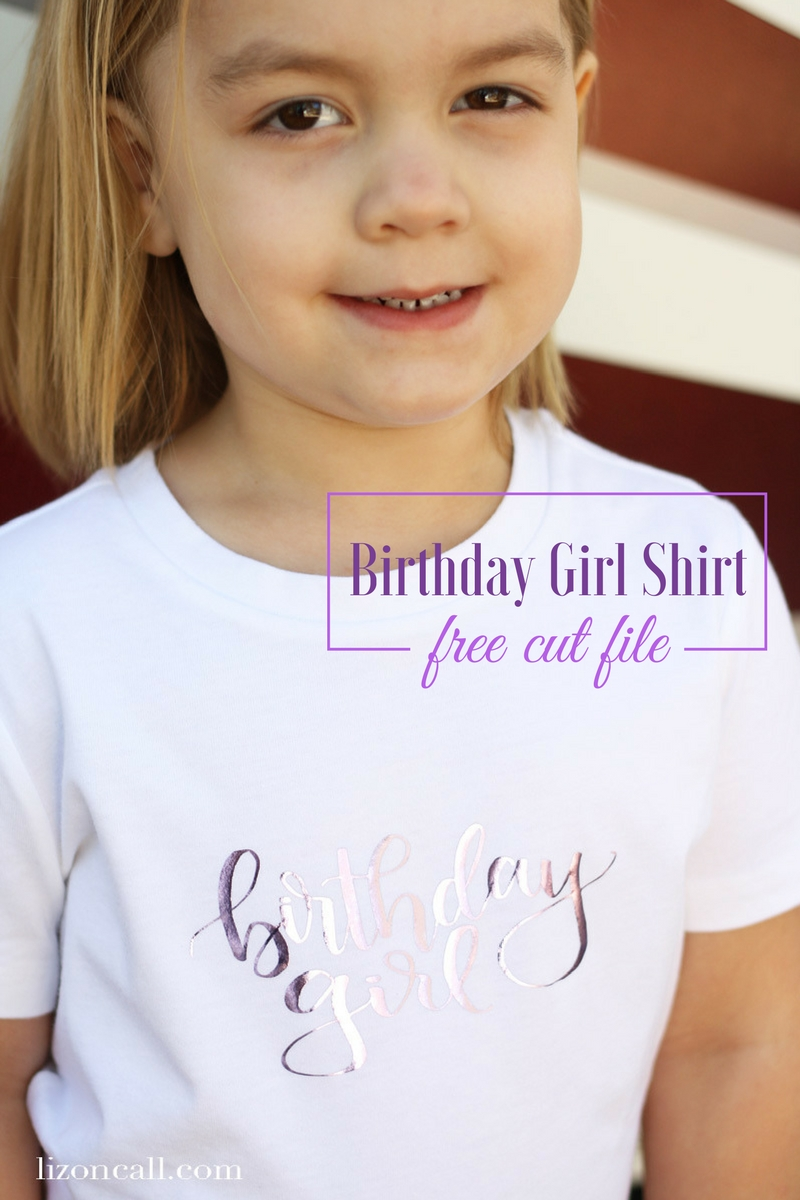 My birthday girl loved this birthday girl t-shirt I made for her to wear on her birthday. Make one for your own birthday girl.