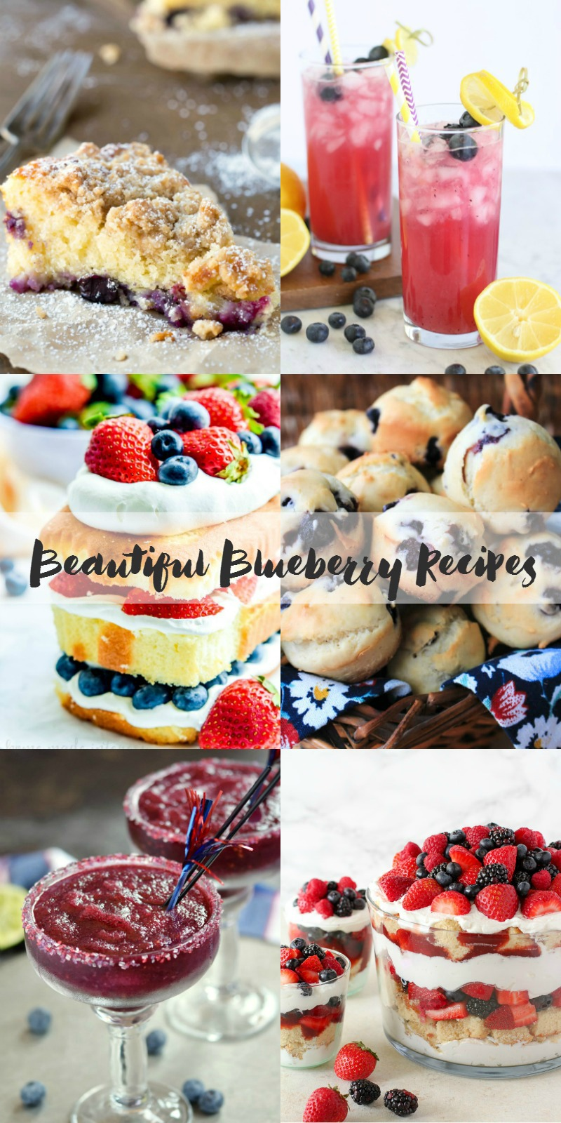 A roundup of beautiful blueberry recipes that are perfect for summer.
