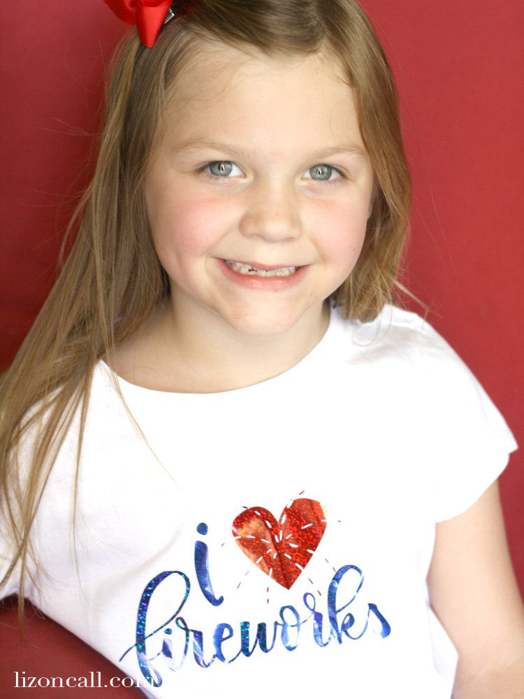 Create this easy DIY patriotic shirt with heat transfer vinyl and this free cut file.